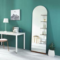 침실 드레스룸 매장 벽걸이 전신 노프레임 아치형 거울 1800x600