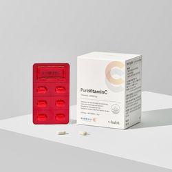 [브이해빗] 내몸에 활력충전 퓨어비타민C 1개월분(650mg60정)