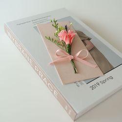 카네이션 프리저브드꽃상품권봉투(핑크)