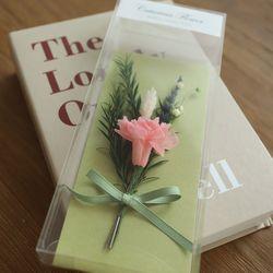 카네이션 프리저브드꽃상품권봉투(그린)