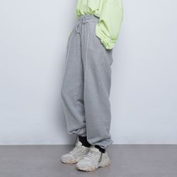 W99 daily wide string pants grey