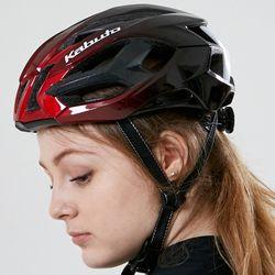KABUTO정품 플래그십모델 MUGA 자전거헬멧 메탈릭레드