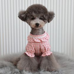 로이코 체크프릴 셔츠 핑크(I001)