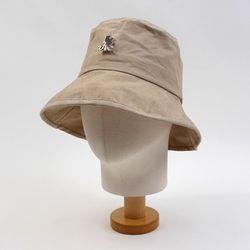 Soft Cotton Beige Over Bucket Hat 버킷햇
