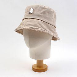 Beige Vintage Short Bucket Hat 버킷햇