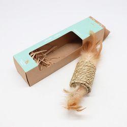 고양이를 위해 해초로 만든 장난감 타래-기둥