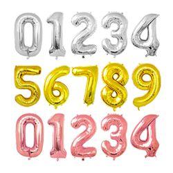 생일 파티 기념일 100일 숫자 풍선 40cm