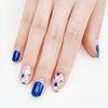 [바바코코] 스팽글 블루 붙이는 젤네일 스티커