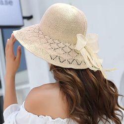 예쁜 리본 버킷햇 여성 모자 여자 벙거지 봄 여름 캡