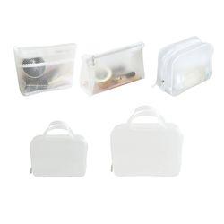 여행용 화장품 투명 물놀이 방수 가방 파우치 5종