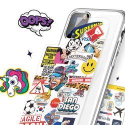 아이폰12 pro max 미니 투명 케이스 꾸미기 스티커 케이스