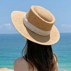 여성 모자 여자 봄 여름 밀짚 벙거지 버킷햇 페도라