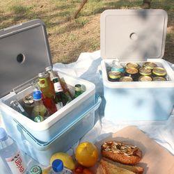 낚시 캠핑 휴대용 차량용 보냉 아이스박스 11L 2개