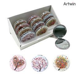 3500 큐빅 원형 손거울 BOX(12)