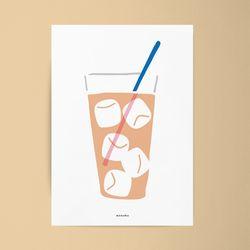 아이스티3 M 유니크 디자인 인테리어 포스터 카페 A3(중형)