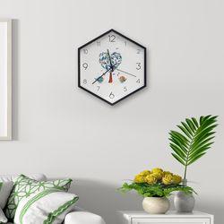 월아트 헥사곤 벽시계(사랑나무)