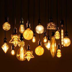 LED 에디슨전구 모음 촛대구 캔들램프 디자인전구