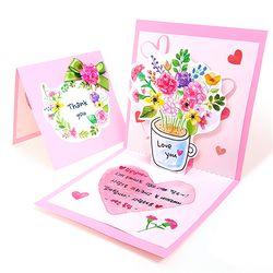 만들기 카네이션 꽃화분 입체 카드 (4인용)