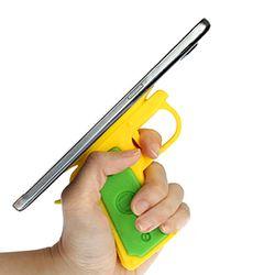 권총 모양 흡착식 핸드폰 거치대 손잡이 홀더 색상랜덤발송