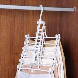 옷장정리 심플 바지걸이 드레스룸 다걸어 폴딩옷걸이