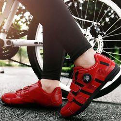 맥다이나믹스 클릿없는 평페달 자전거신발RED