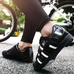 맥다이나믹스 클릿없는 평페달 자전거신발BLACK