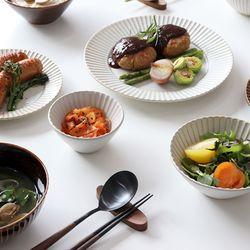 빈티지 플라워 시노기 라인 그릇 일본 접시