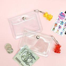 플리징 투명 미니 카드 지갑