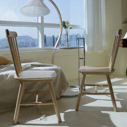 인트로 원목 디자인 체어 식탁의자 1 1 2P 세트TB21R23