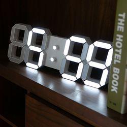 모모스 3D 무소음 LED 벽시계 인테리어 벽걸이 시계 38cm