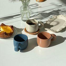 동글 머그컵 3종 무광 커피잔