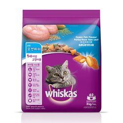 위스카스 건사료 포켓 오션피쉬 3kg고양이사료건사료