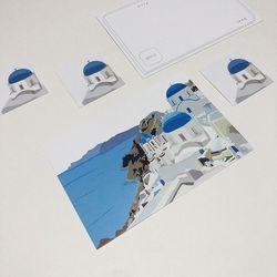 Santorini card