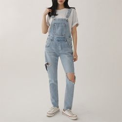 Denim Distressed Awesome Overalls
