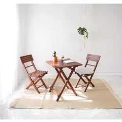 브라우니 원목 접이식 카페테이블 SET 디자인01