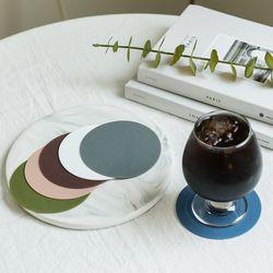 국산 논슬립 실리콘 엠보싱 무지 원형 컵받침 10cm