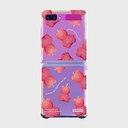 Little fire covy pink pattern-clear(Z플립-투명)