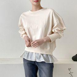 Some Cha Peplum Sweatshirt