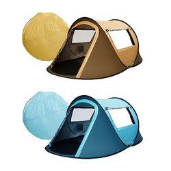 피크닉 캠핑소품 원터치 자동 2인 3인 텐트