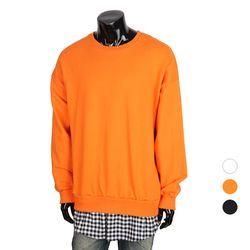 [쿠비코]레이어드 체크 박스핏 맨투맨 티셔츠 MZ140