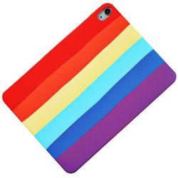 아이패드7 10.2 레인보우 실리콘 태블릿 케이스 T071