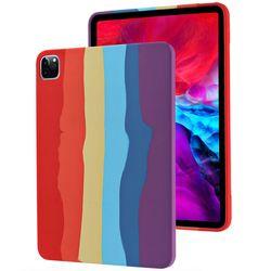 아이패드에어1 레인보우 실리콘 태블릿 케이스 T071