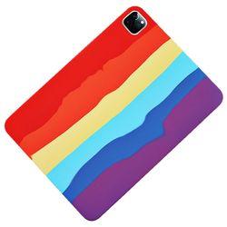 아이패드미니5 레인보우 실리콘 태블릿 케이스 T071