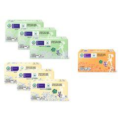 유기농본 순면 생리대 중형3개대형3개+소형1개 선택가능