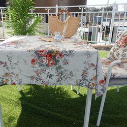 앙티브 로즈 4인용 테이블보 식탁보 130x180 3colors