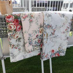 앙티브 로즈 6인용 테이블보 식탁보 130x210 3colors