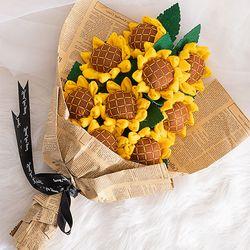 금손 승부욕자극  DIY 해바라기 꽃다발 만들기