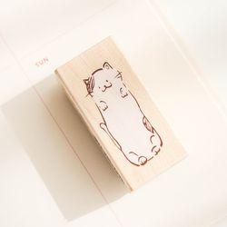 고양이 메모지 스탬프 035-ST-0001