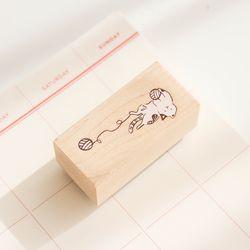 고양이 밑줄 스탬프 035-ST-0002