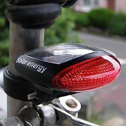 솔라파워 태양광 충전식 자전거 안전등 태양열 후미등